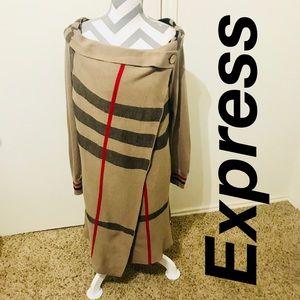 Rare Express Tartan Cardigan wrap size medium